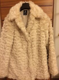 Fur Jacket for sale Atmosphere size 6(like 8)