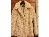 Fur Jacket for sale Atmosphere size 6(like 8)