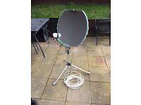Folding portable satellite dish sky freesat
