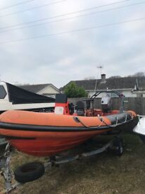 """Oprey Viper 5.7m """"RIB"""" Rigid Inlatable Boat with 90hp Mariner engine and trailer"""