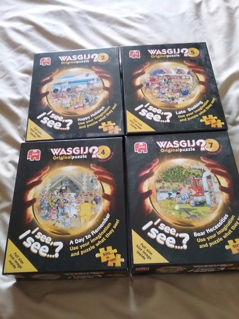 4 x Wasjig puzzles