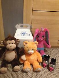 Build a bear bundle. Includes box and roller skates.