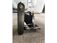 Vintage folding film camera.