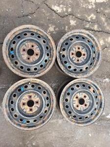 4 roues d acier 14 pouces 4x100