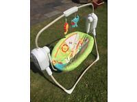 Fisher Price Rainforest Baby Cradle Swing Rocker