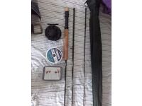 "Brand New 2xl Fly Rod 9'6"" with shakespeare reel with line"