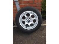 4 mini pepperpot alloy wheels R56