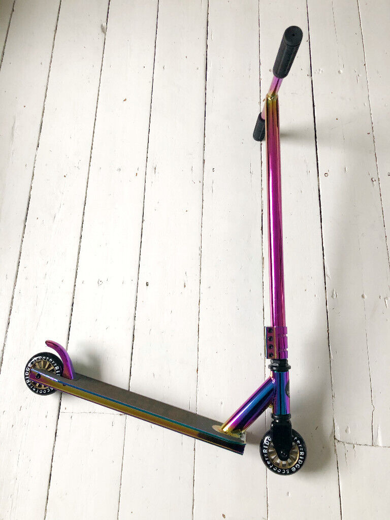 Complete Stunt Scooter Ridge Scooters XT Pro 100 Neochrome Series