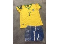 Kids football kit Brazil