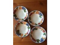 Staffordshire Tableware - Chianti Design Cereal/Dessert/Soup Bowls x 5