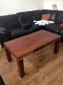 Hand made wooden coffee table