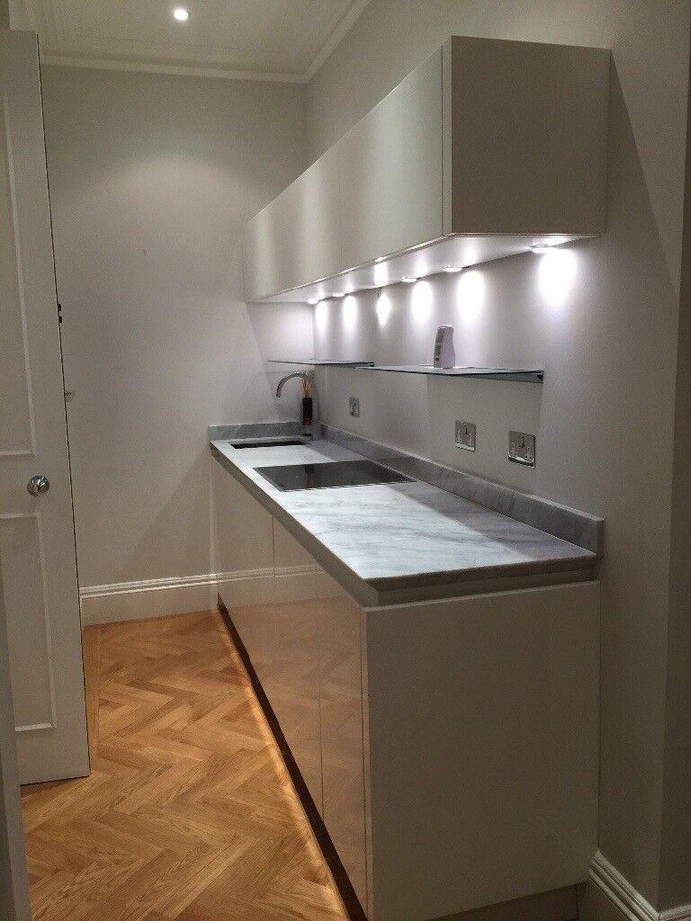 Almost new kitchen storage - high gloss