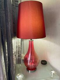 2x Quality glass and chrome lamps