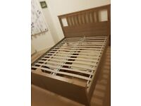 IKEA HEMNES Bed frame, grey-brown, Standard King size - excellent conditions