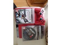 ps3 console red limited edition 320 gb comes with 1 pad 11 games