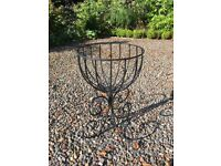 Set of 3 wire Patio planters by Tom Chambers
