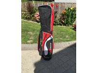 Set of unused Zenith Dunlop golf clubs and bag