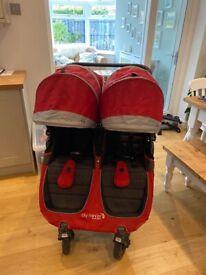 Baby Jogger City Mini GT Red Double Pram