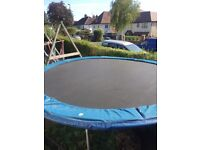 14 foot trampoline in good condition, no surrounding net
