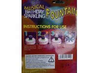 Sparkling party cake candles