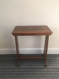 Hand made solid wood side table