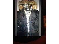 Girls fur hooded bomber from Next