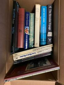 Selection of sailing books hardback paperback