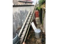 Two aluminium extension ladders for sale