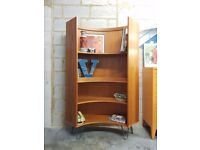 Mid Century Vintage Curved Bookcase by G Plan