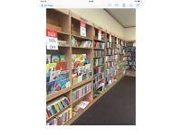 Book shelfs / reception desk full library shop