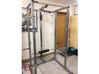 Mirador power rack workout cage and cable system- silver