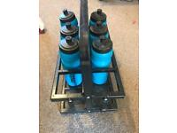 Mitre water bottles and carrier