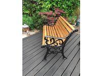 "Garden Bench Refurbished ""Fleur de Leys"" Design."