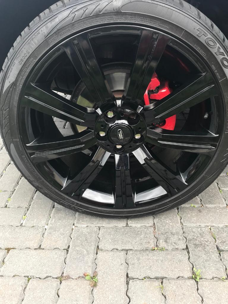 """22"""" Range Rover stormer alloys with tyres swap or sell"""