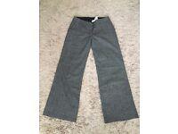 Size 14 black/grey tweed trousers
