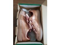 Ladies Puma Basket Heart Copper Rose Gold Trainers Size 6