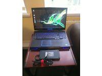 """ALIENWARE M18X R2 18.4"""" Laptop, i7, 12gb Ram, 750GB SSD, Win 10"""