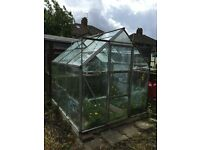 GREENHOUSE fully glazed 6ft x 7ft