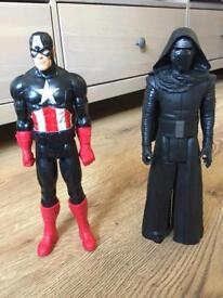 Darth Vader & Captain America characters