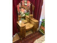 Three-piece bedroom furniture set: Dressing table, large wardrobe & small wardrobe