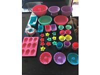 36 piece silicone bakeware