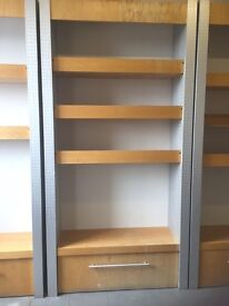 Solid tall shelves for office or home or business use