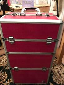 Makeup/hairstylist trolley with-wheels