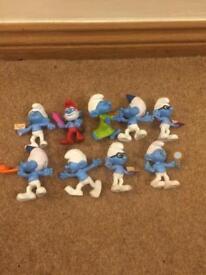 Smurf figures set excellent condition