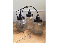 Vintage/Shabby Chic Jar light fitting
