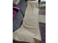 "Pair Heavy Silk Style Cotton Blend Curtains Buttermilk 66"" x 90"""
