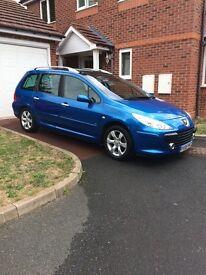 Peugeot 307 5 door hatch back, low mileage, one owner, mint condition. £2500