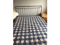 King size bed frame and Mattess