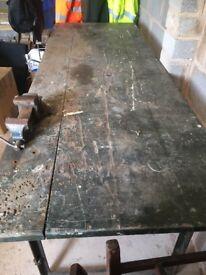 Heavy Duty Wood & Metal Workbench for sale