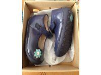 Clarke blue flower girls shoes
